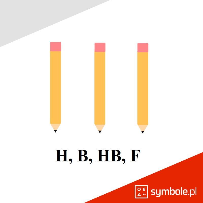 oznaczenia ołówków