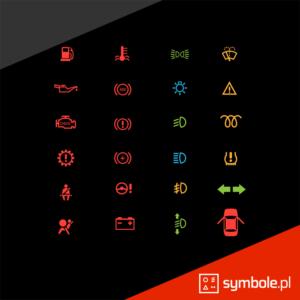 oznaczenia kontrolek w samochodzie