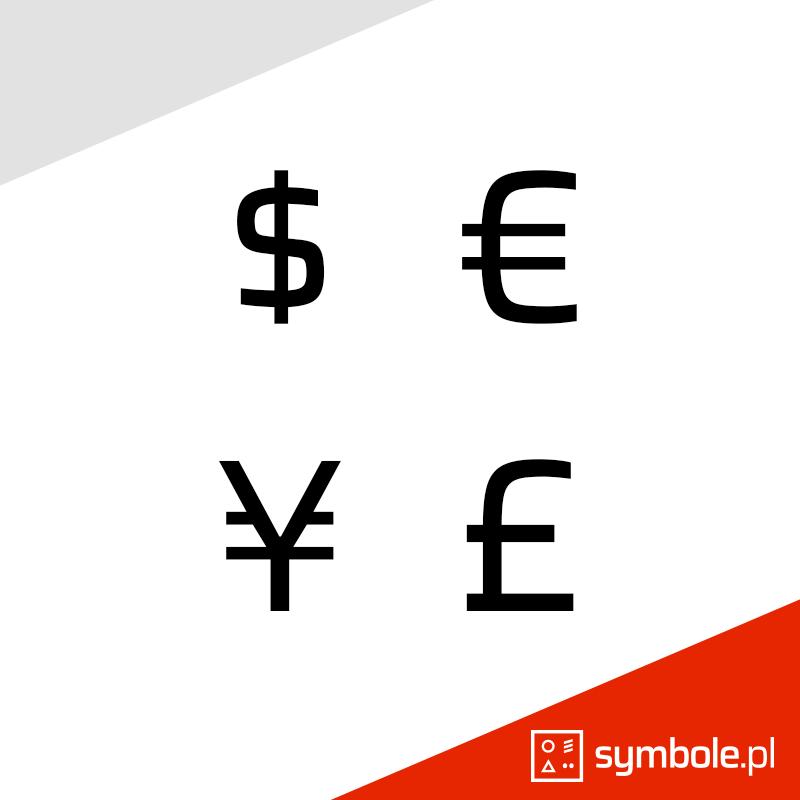 symbole walut