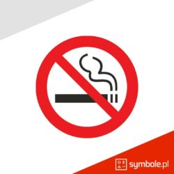 znak zakaz palenia