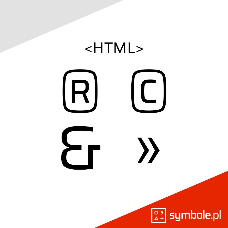 znaki specjalne HTML
