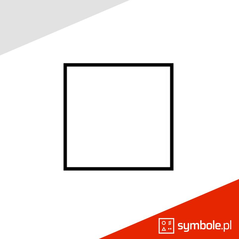 kwadrat symbol