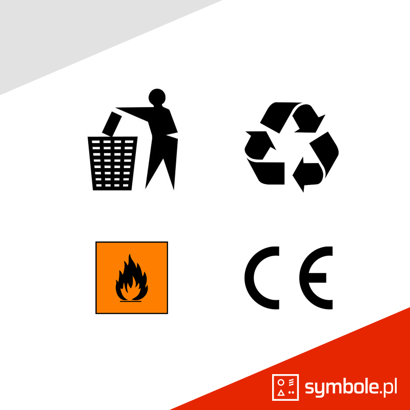 symbole na opakowaniach