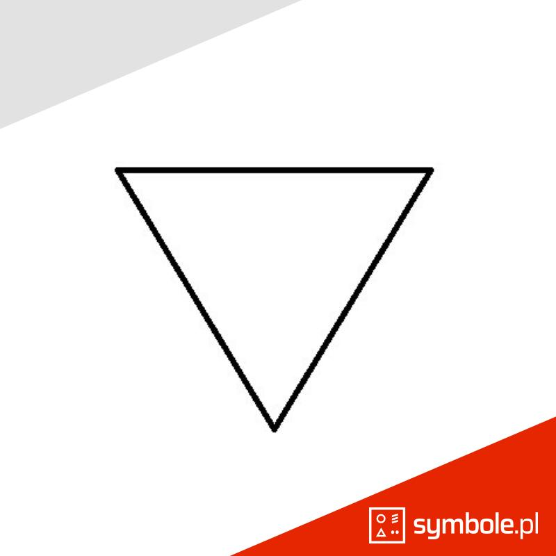 symbol odwrócony trójkąt