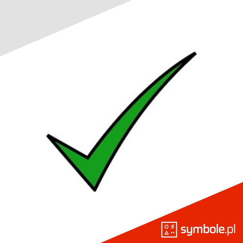 tick symbol, znak wyboru