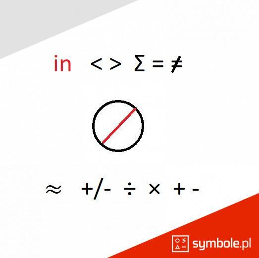 symbole matematyczne